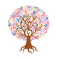 Music note tree concept nature care vector image