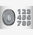 numbers object scifi tech style vector image
