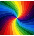 Rainbow colorful warped stripes background vector image