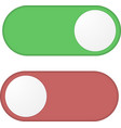Toggle switch button vector image