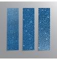 Vertical set Blue sequins banners Glitter vector image