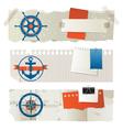 stylized sea banners vector image vector image