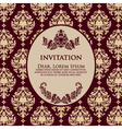 Damask Floral Invitation Card vector image vector image