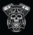 Skulls Of Rider Emblem vector image