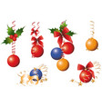 christmas iconsobjects collection detailed vector image