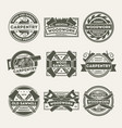 woodwork company vintage isolated label set vector image