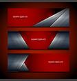 banner red background design vector image