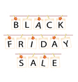 Black Friday of Blank Photos with Maple Leaf vector image vector image