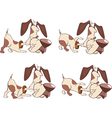 Cartoon Character Cute Hunting Dog vector image
