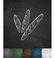 baguettes icon Hand drawn vector image