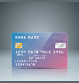 bank card with reflect card number is random vector image