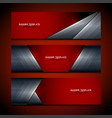banner red background design vector image