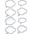 cartoon of a set speak bubble vector image