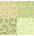 Collection od hand drawn seamless patterns vector image