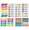 Collection of infographics elements vector image