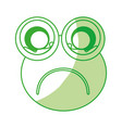 comic frog character icon vector image