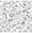 Doodle pattern sweets vector image