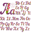 Full alphabet vector image