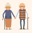 grandparents image of happy couple in cartoon vector image