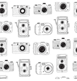 Photo cameras pattern Hand drawn vector image