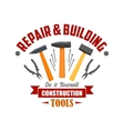 Repair building construction tools sign vector image