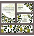 Tropical card set for different invitations vector image