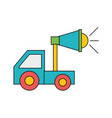 trunk with megaphone to company strategy business vector image