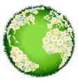 floral flower globe concept vector image