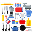 kitchen equipment for cooking vector image
