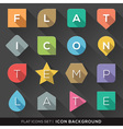 Geometric shapes background for flat icons set vector image vector image