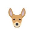 multicolor simple dog head silhouette vector image