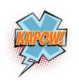 kapow comic word vector image