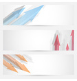 Arrow web banners set - headers collection vector image vector image