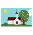 church background vector image