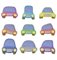 cartoon set cars vector image vector image