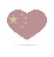 I love China Creative heart flag vector image