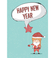 Happy new year girls santa cute Christmas vector image vector image