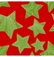 Abstract christmas background with stars vector image