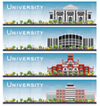 Set of university study banners vector image vector image