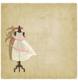 bride dress on old paper background vector image