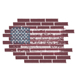 concept with USA flag on the brick wall vector image