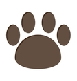 Dog foot print isolated icon design vector image