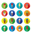 ice cream icons vector image
