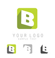 letter B icon vector image