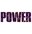 Power sign vector image