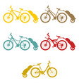 set bike trailer vector image
