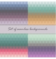 Set of seamless triangle pattern in pastel colors vector image
