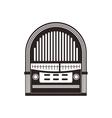 radio retro vintage music icon graphic vector image