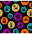 Happy Halloween elements seamless pattern vector image