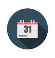 Flat Design Concept Calendar With Long Shado vector image